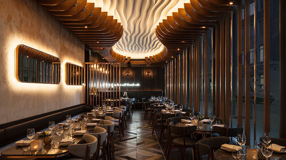 Haz restaurant london nulty lighting design consultants