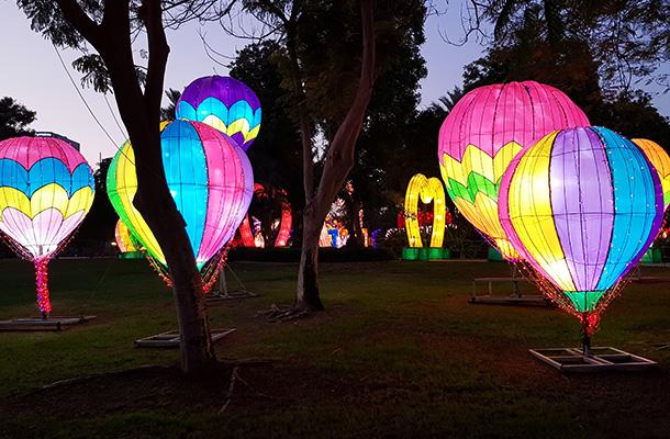 Dubai Garden Glow Illuminated Hot Air Balloons