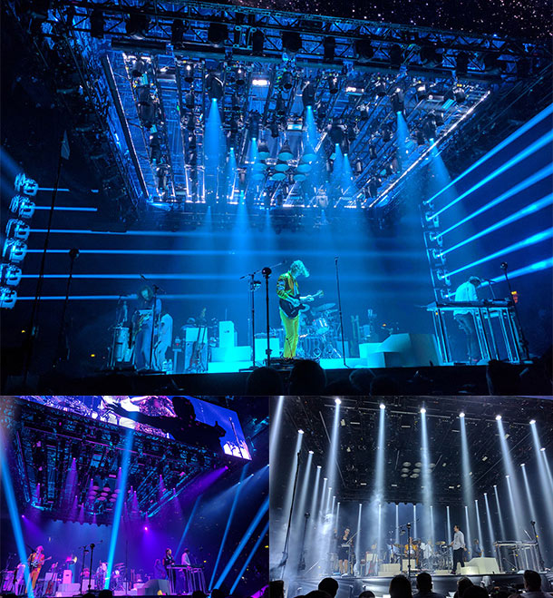 Arcade Fire Lighting Boxing Ring Effect Stage Design