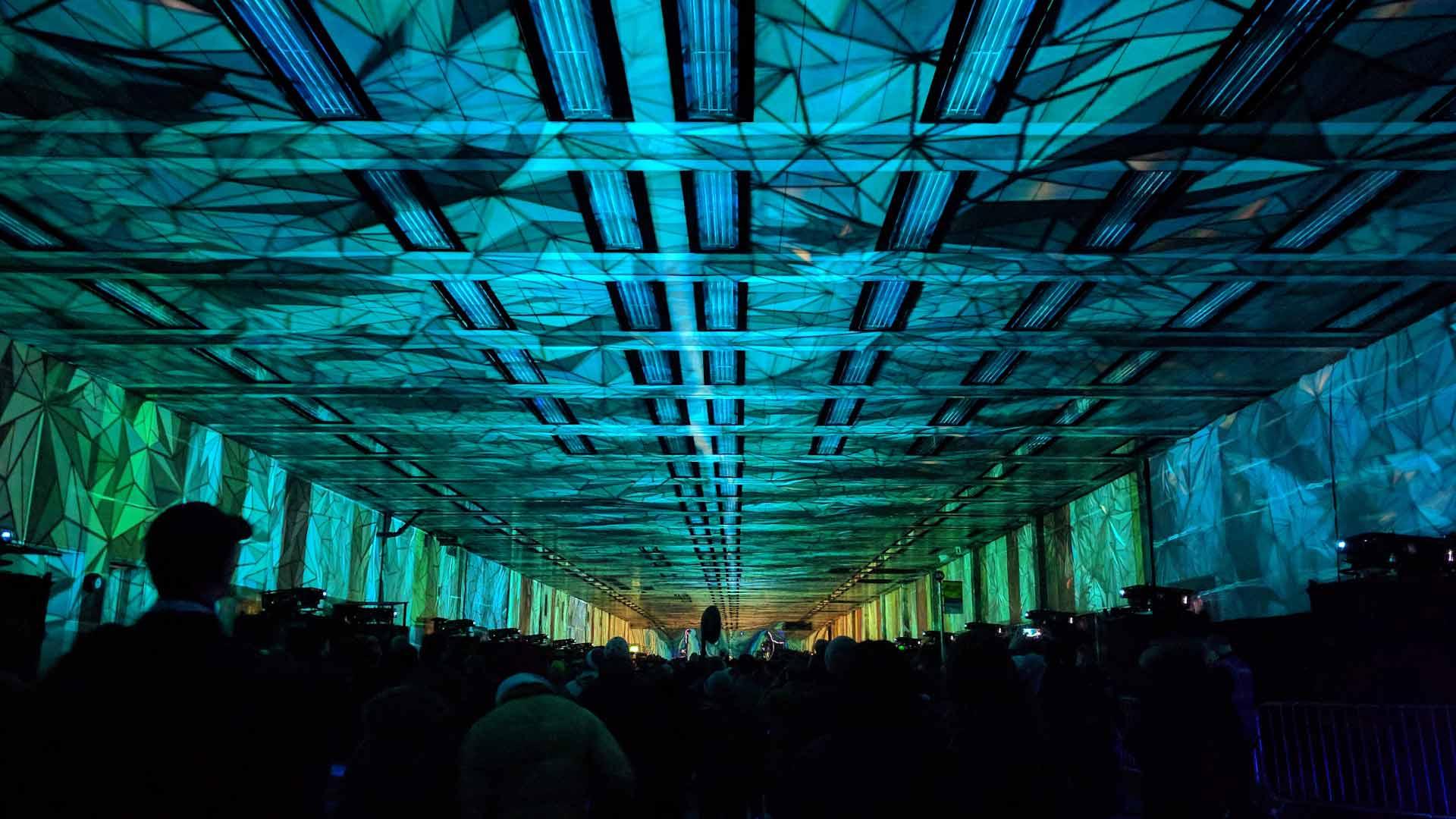 Dramatic Lighting Effect Tunnel Barbican London
