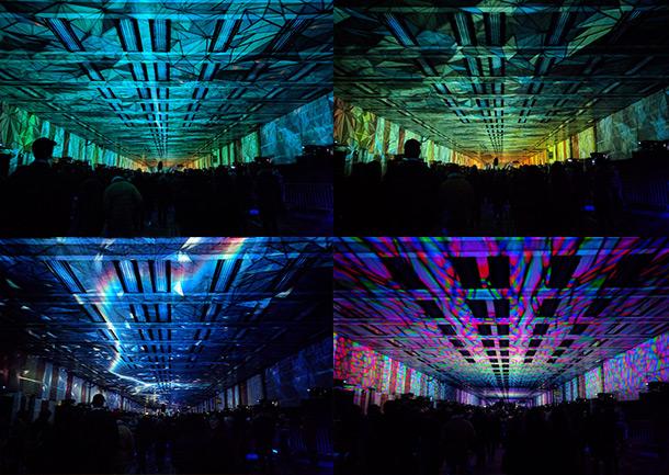 Beech Street Tunnel Barbican Lighting Effects