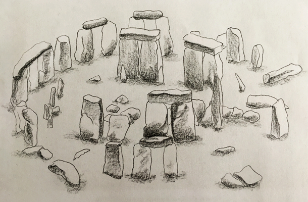 Stonehenge Sketch Lighting Effects Antiquity Structures Nulty