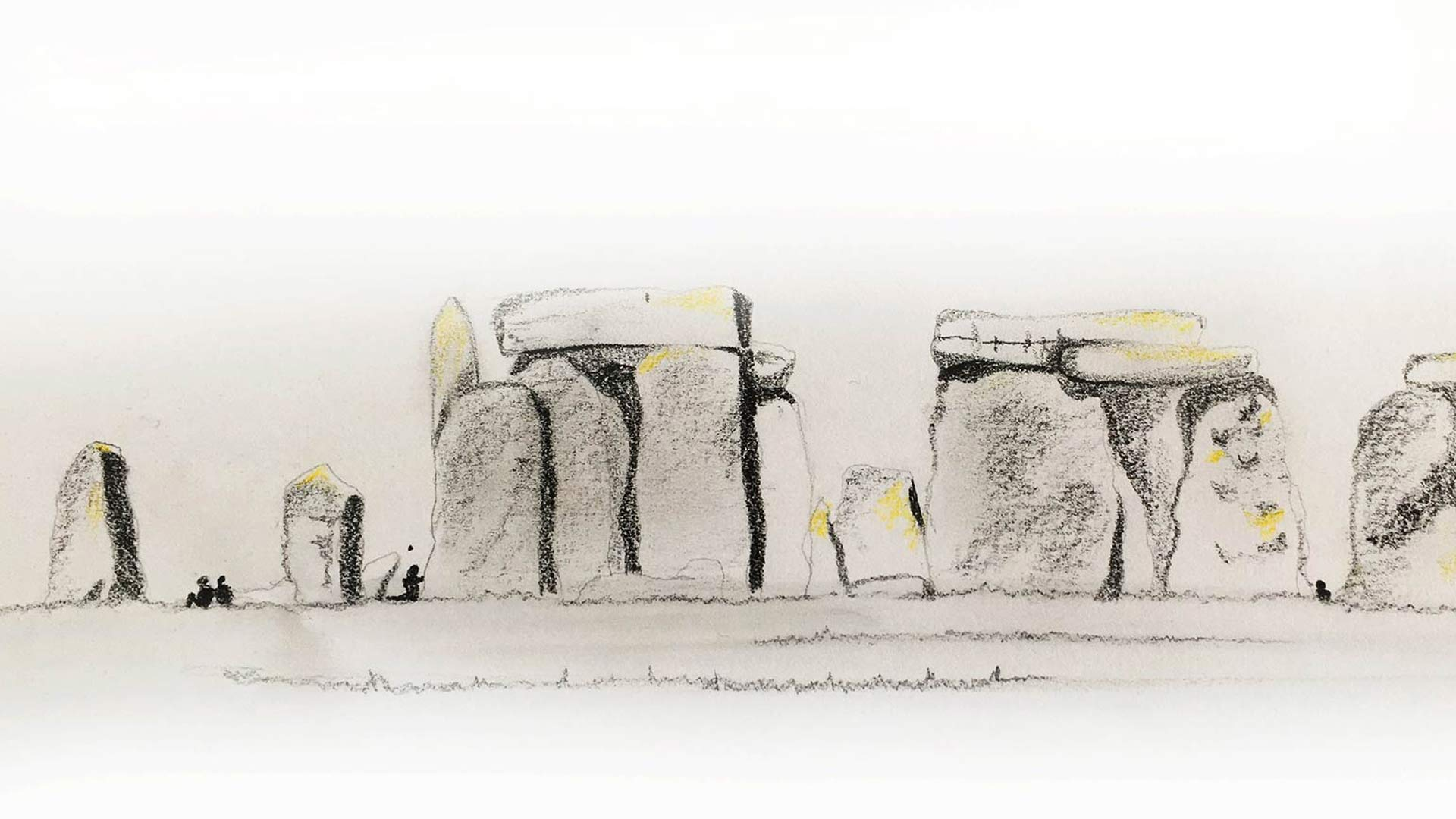 Stonehenge Hand Sketch Lighting Effects Antiquity Nulty