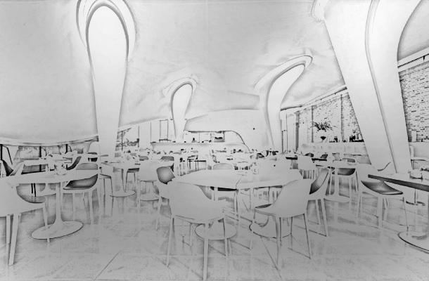 Serpentine Sackler Gallery London UK Sketch Built Form Modernity