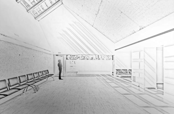 Tanatorio Municipal Funeral Home El Burgo de Ebro Spain Sketch Built Form Modernity