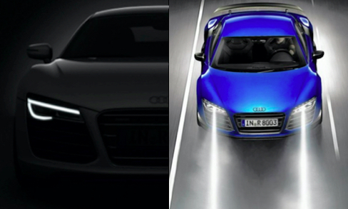 Audi R8 Headlights Sleek Design Automotive Lighting