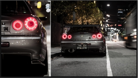 Car Halo Break Lights Nissan Godzilla R34 GT-R