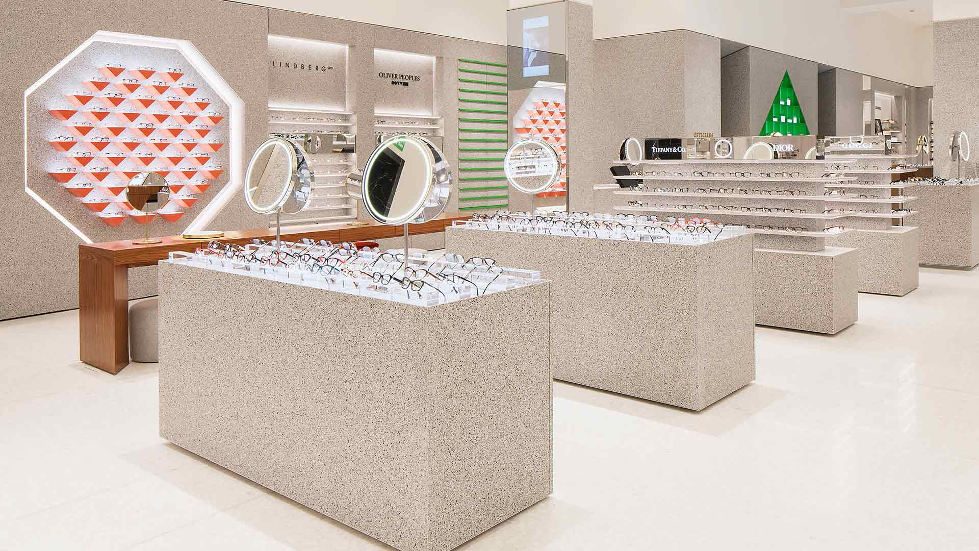 Integrated Lighting Design Modern Contemporary Optical Department Retail Display Units Nulty