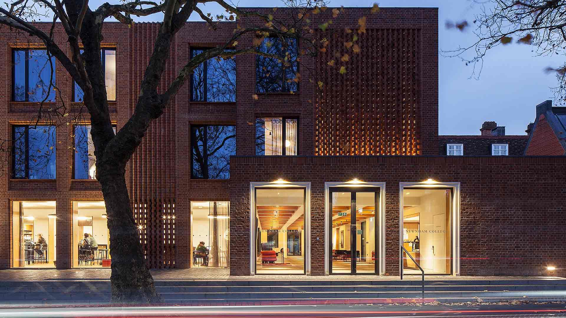 New Contemporary University Building Newnham College Cambridge Exterior Interior Lighting Nulty