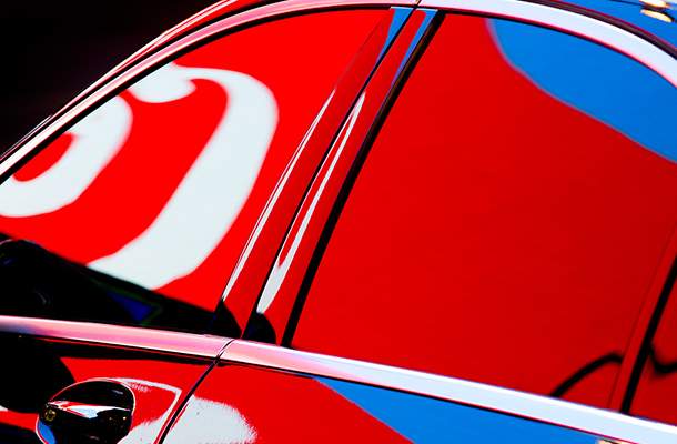 Nick Turpin Photographer Car Reflection Advertisement Colour Street Photography