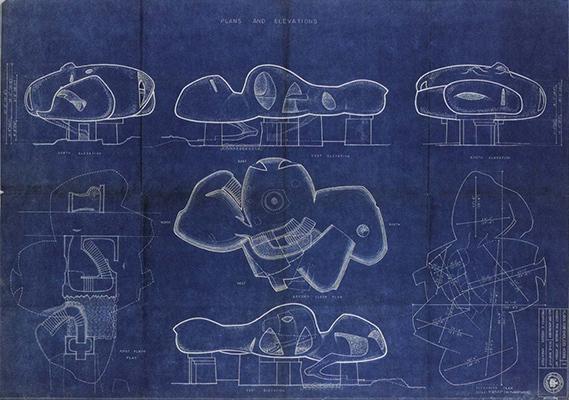 Frederick Kiesler Blueprints For Endless House