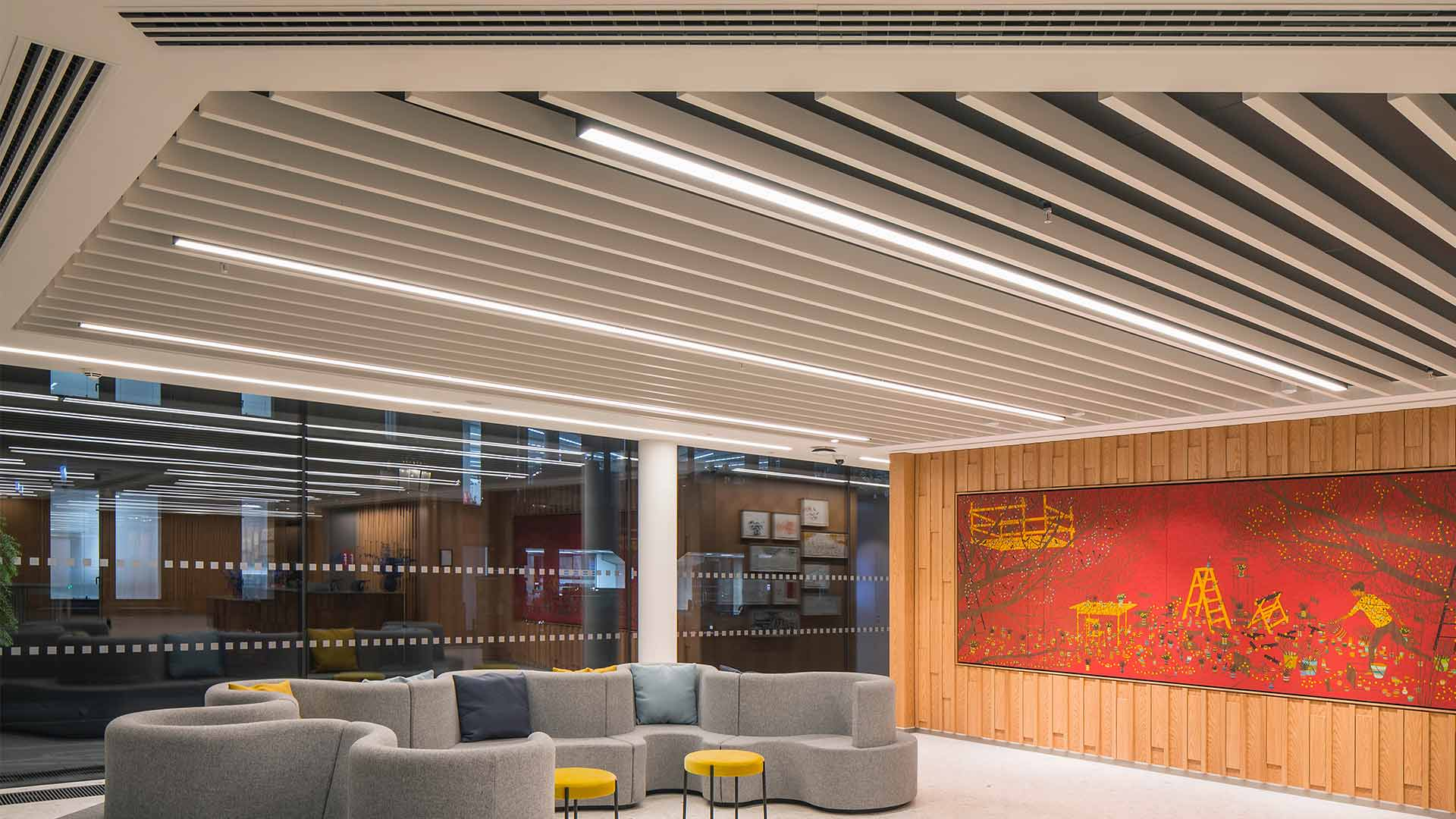 Architectural Lighting Design Office WELL Certified Design Reception Space Consultants London Nulty