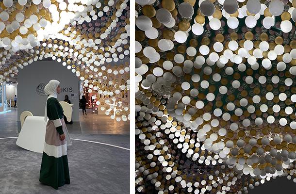 Carousel of Light Preciosa Decorative Interactive Light Installation Dubai Design Week 2019