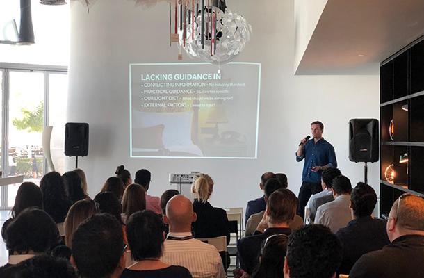 Emilio Hernandez Presenting Manifesto For A Good Night's Sleep Dubai Design Week 2019