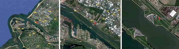 Rotterdam The Maeslantkering Storm Surge Barrier Satellite Photos