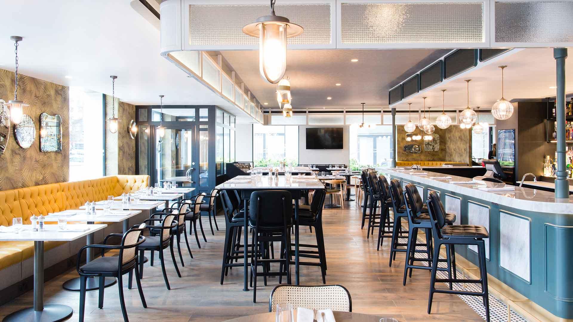 Lighting Design Scheme Restaurant Bar Cafe Decorative Pendants Integrated Illumination Clayton Hotel London Nulty