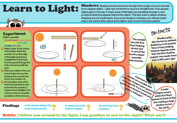Learn To Light Shadows Worksheets Childrens Educational Resource Nulty