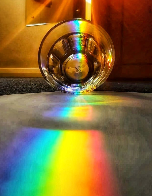 Rainbow Glass Refraction Reflection Light Up Your Lockdown Competition Nulty