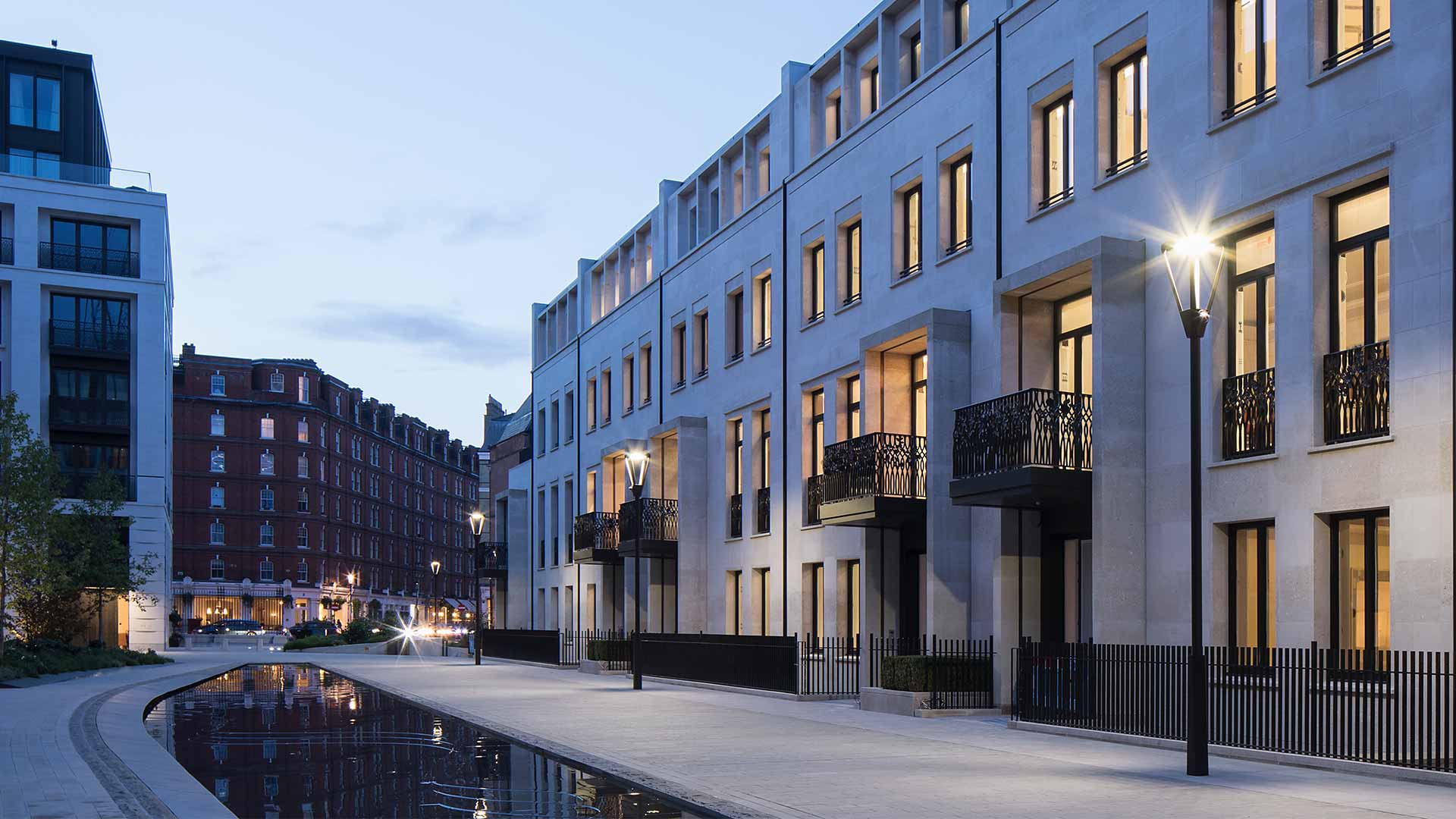 Exterior Lighting Design Scheme Bespoke Lamp Post Chelsea Barracks London Consultants Nulty