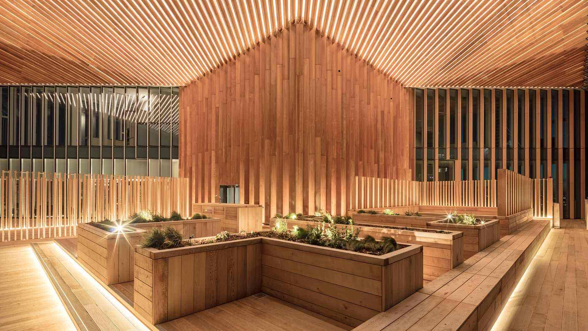 Architectural Lighting Design Exterior Terrace Manhattan Loft Gardens Consultants Nulty