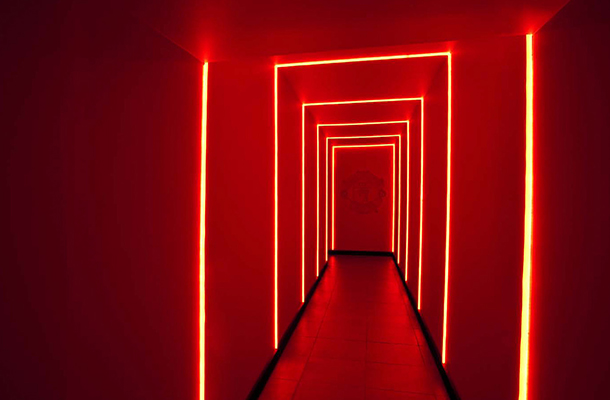 Lighting Design Soccer Retail Store Red Light Tunnel Designers Nulty