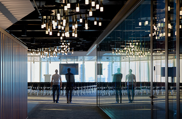 Ceiling Light Sculpture Office Conference Room Lighting Designers London Nulty