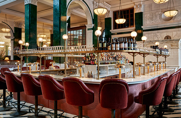 Interior Lighting Scheme Art Deco Luxury Bar Pendants Historic Building Consultants Nulty